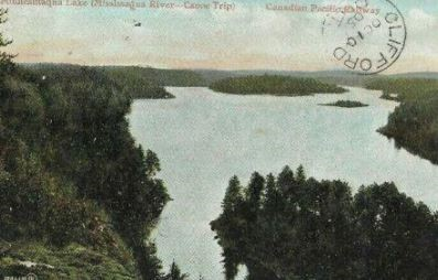 1905 Post Card of Lake Minnesinaqua from the Mississauga Canoe trip