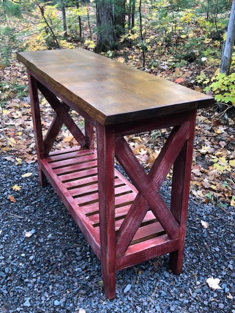 Distressed Rustic Pine Table