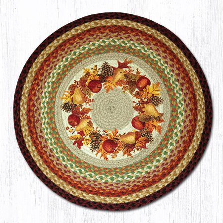 Earth Rugs - Autumn Wreath Round Patch Rug