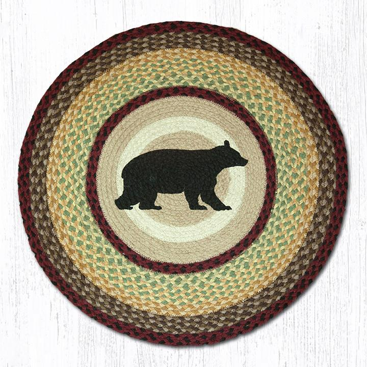 Earth Rugs - Cabin Bear - Round - 27