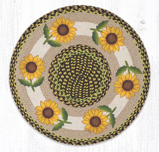 Earth Rugs - Good Sunflower - Round - 27-2