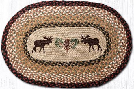 Earth Rugs - Moose Pinecone - 20 x 30 Oval