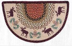 Earth Rugs - Moose Pinecone Design Slice Mat - 18 x 29