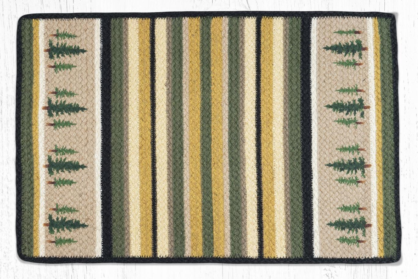 Earth Rugs -Vertical Stripe Tall Timbers Design Oblong-2