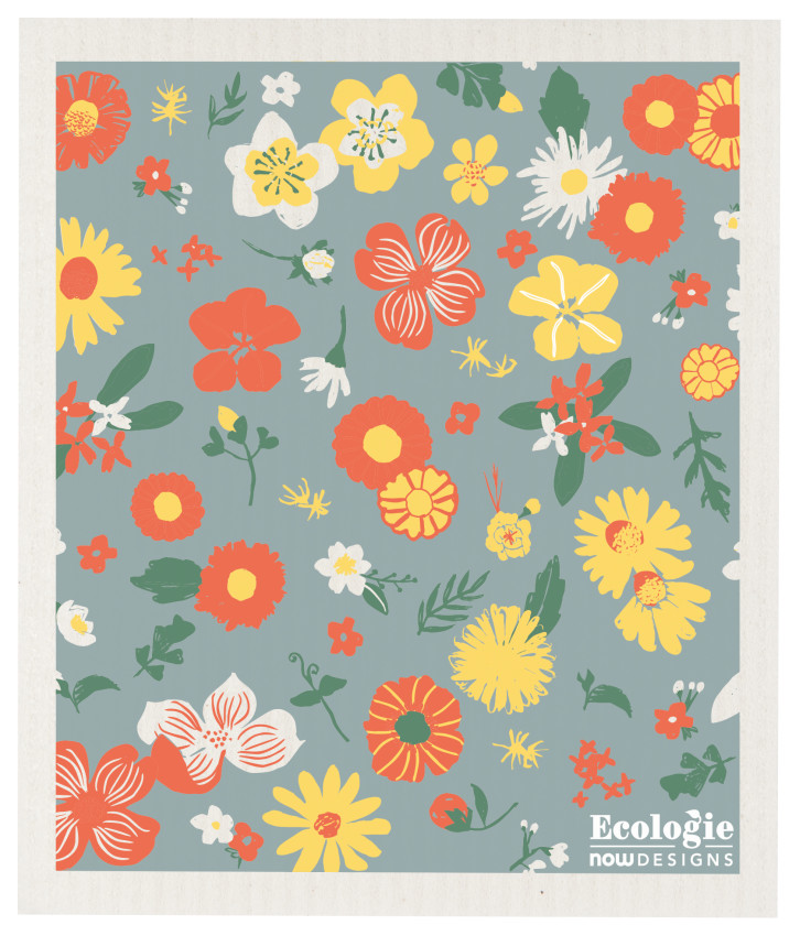 Flowers of Month Ecologie Swedish Sponge Cloth-2