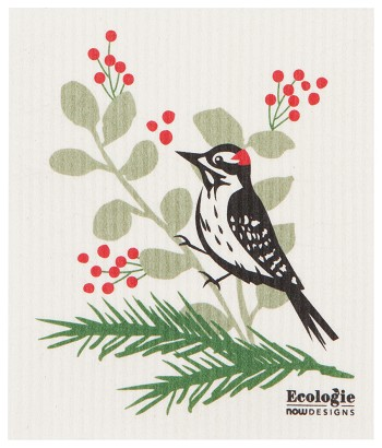Forest Woodpecker Ecologie Swedish Sponge Cloth-2