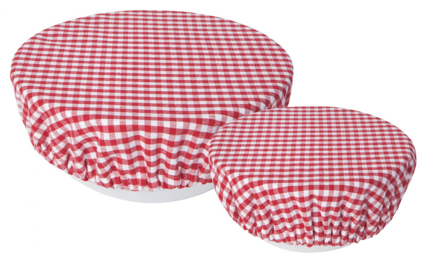 Gingham Bowl Cover - Set of 2