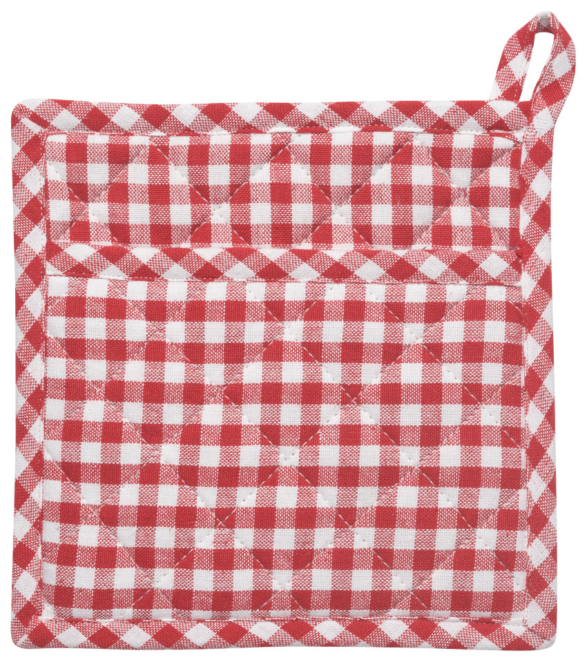 Gingham Potholder - Set of 2 - 8 x 8