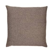 HUI - Brown Herringbone Pillow - Poly Filled - 20 x 20