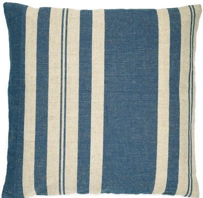 HUI - Collection Manhattan Blue Stripe Pattern Pillow