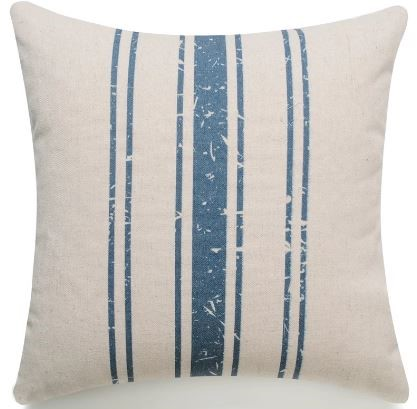 HUI - French Stripe - Navy Blue Pillow