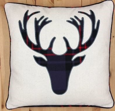 HUI - Moose head Edinburgh Pillow - Dark Grey