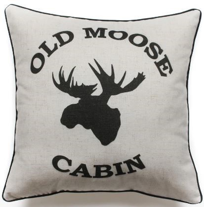 HUI - Old Moose Cabin Pillow