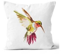 Hot Line Apparel - Hummingbird Citron Outdoor Pillow