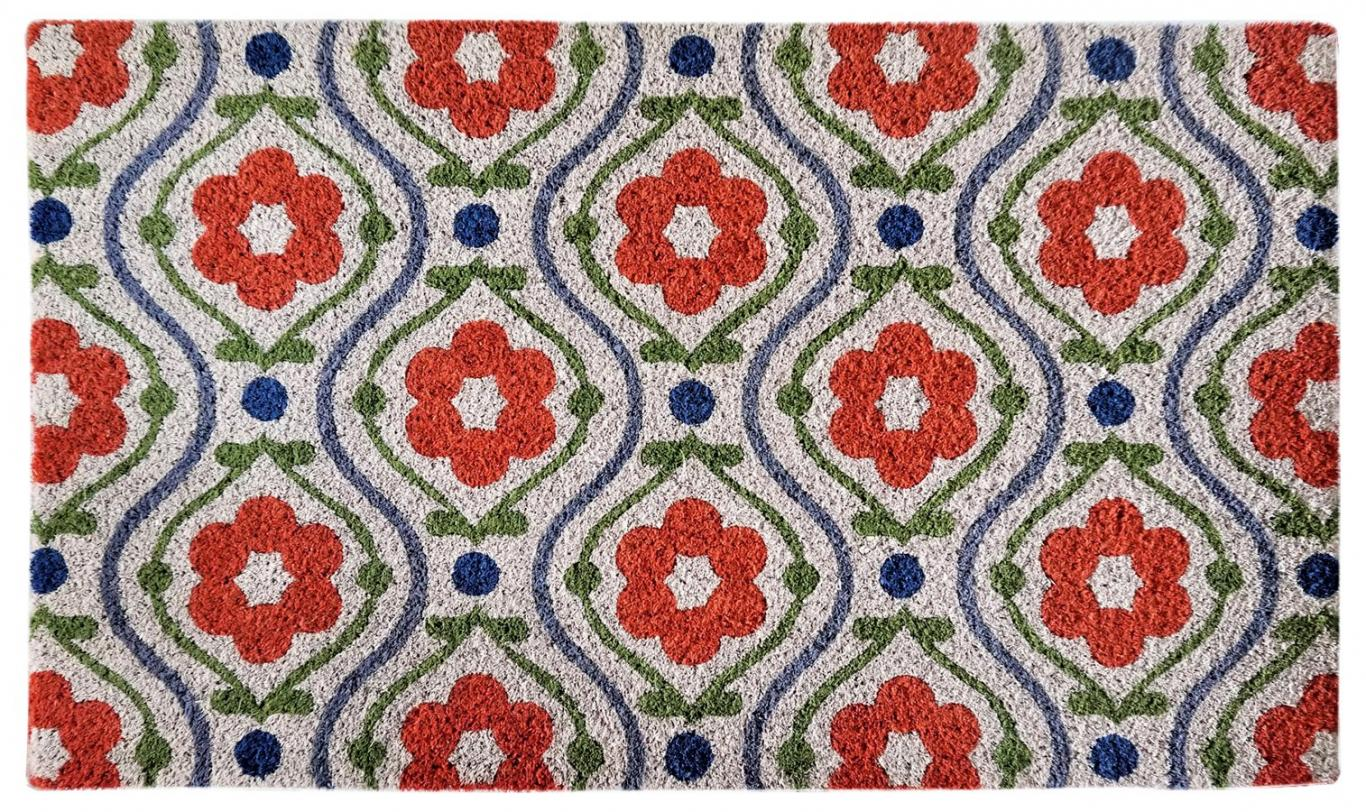 NACH - Welcome Mat Red Floral2