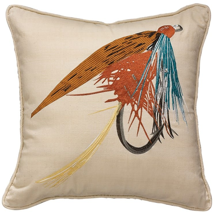 Park Designs - Fishing Lure Pillow - Feather Filled - 20 x 20
