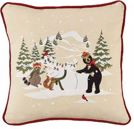 Park Designs - Snow Moose Pillow