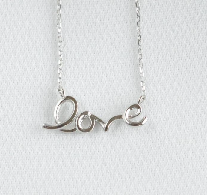 Statement Grey - Love Necklace - Sterling Silver2_copy