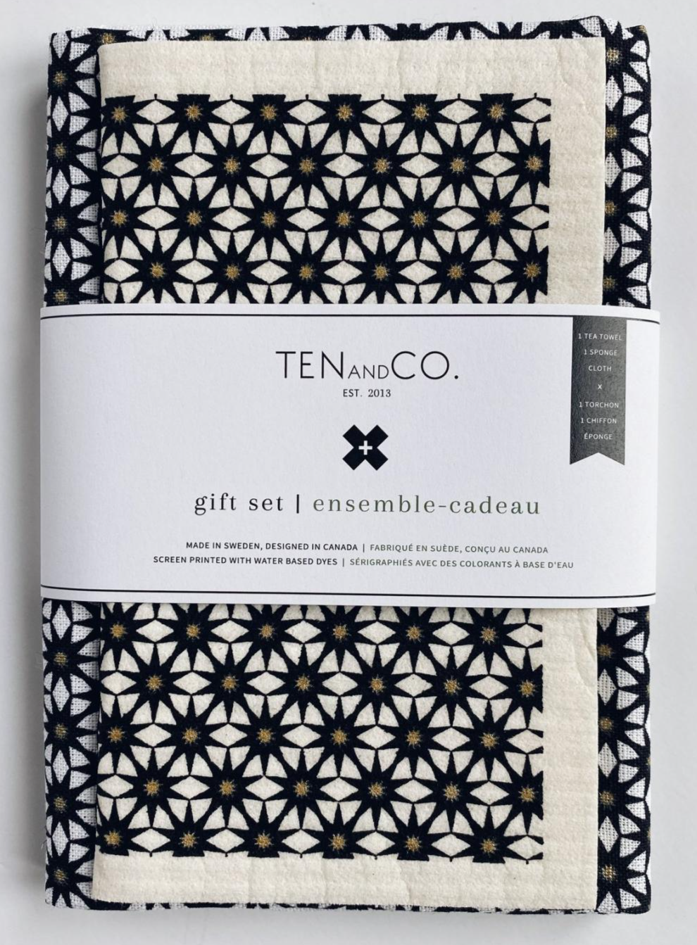 Ten & Co. - Gift Set - Starburst Gold and Black_copy