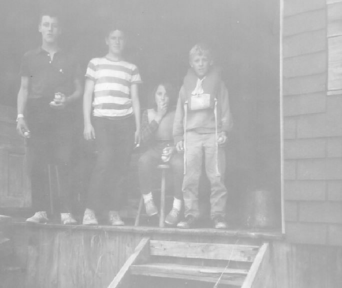 Trails End Standing on Back Porch - 1967